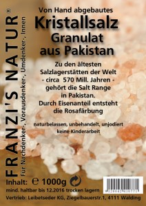 Kristallsalz Granulat 1000g
